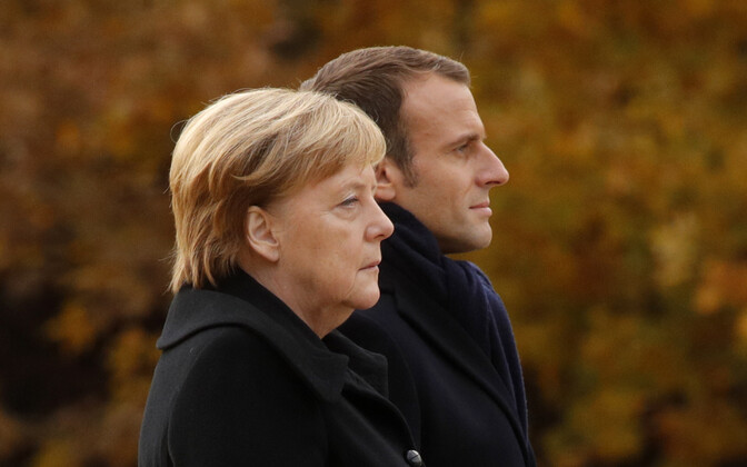 Angela Merkel ja Emmanuel Macron.