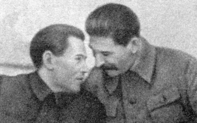 Nikolai Yezhov (pictured with Joseph Stalin) was head of the NKVD from 1936-1938, during the most active period of the Great Purge.
