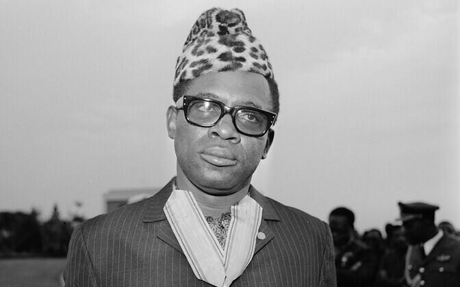 Kongo DV/Zaire kurikuulsaim riigijuht Mobutu Sese Seko (1930-1997).
