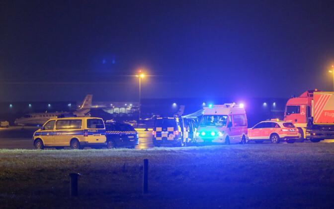 Võimuesindajate autod Hannoveri lennuväljal.