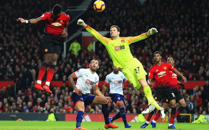 Manchester United alistas tulemusega 4:1 Bournemouthi