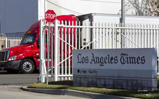 Ajalehtede laialivedu Los Angeleses.