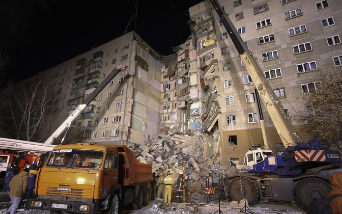 Plahvatuses kannatada saanud maja Magnitogorskis
