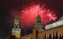 Uue aasta ilutulestik Moskva, Venemaa kohal.