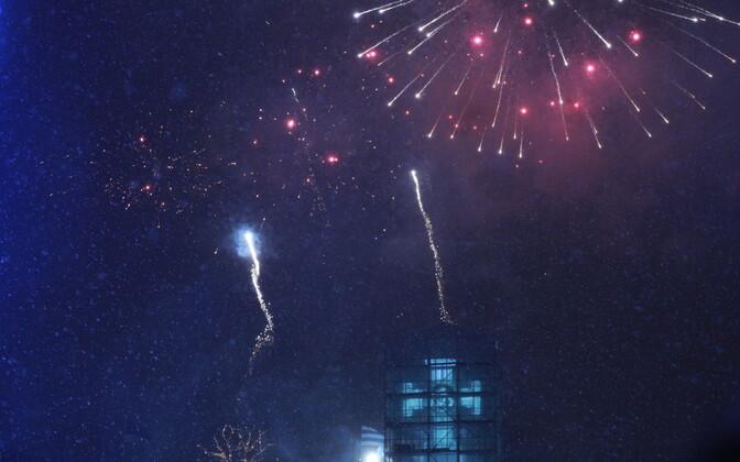 Uue aasta saabumine Vabaduse väljakul.