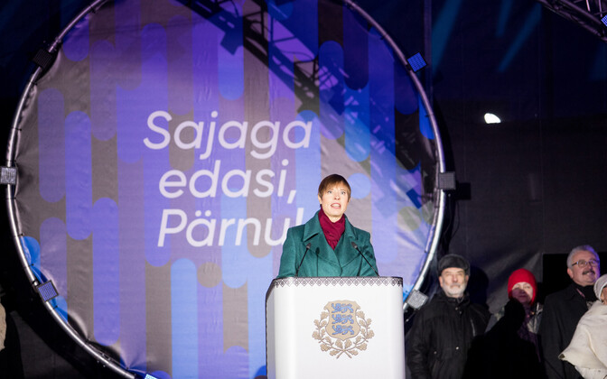 President Kersti Kaljulaid speaking in Pärnu, 31 December 2018.