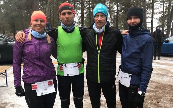 Võidukas võistkond: Raili Rüütel, Toomas Unt, Ragnar Virma, Liina Kesamaa