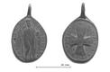 Медальон из Йыгевамаа XVII века с изображением святого Бенедикта Нурсийского.