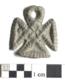 Найденная на Сааремаа подвеска в виде ангела XII-XII веков.
