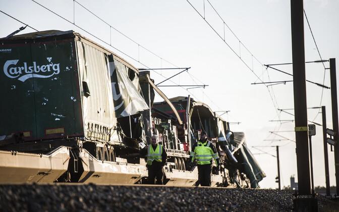 Rongiõnnetus Taanis Suure-Beldi sillal 2. jaanuaril.