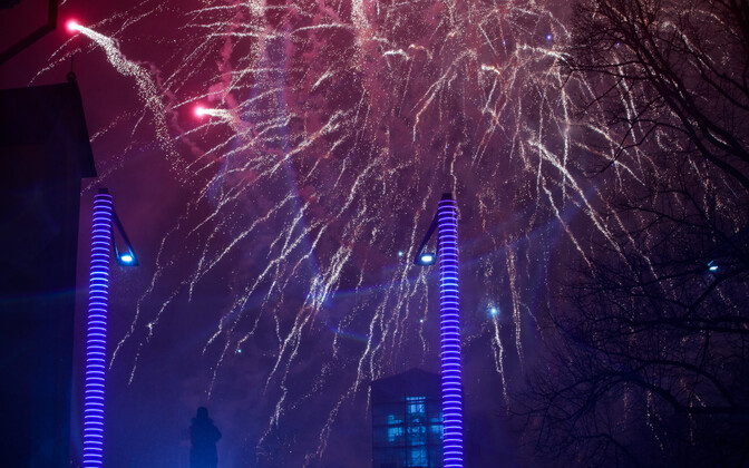 Fireworks at a previous New Year's display in Vabaduse väljak.