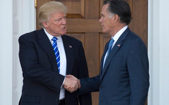 Donald Trump ja Mitt Romney 2016. aasta detsembris, kui Trump oli kaalunud Romney't kui võimalikku tulevast välisministrit.