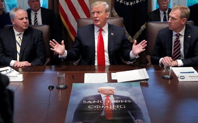 President Trump USA valitsuskabineti istungil 2. jaanuaril.