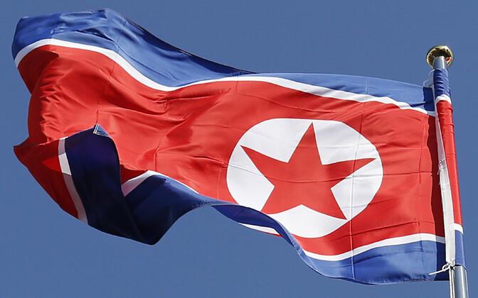 Põhja-Korea lipp.
