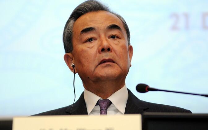 Hiina välisminister Wang Yi.