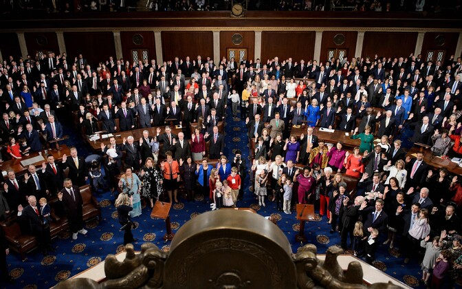 USA kongressi esindajatekoja liikmete ametissevannutamine.