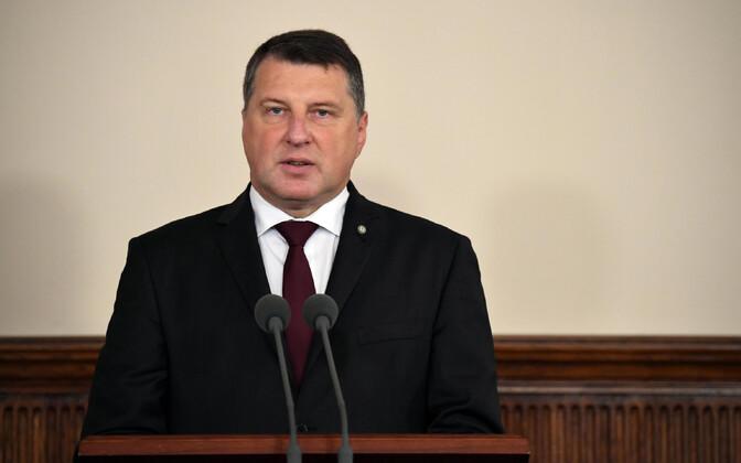 Latvian President Raimonds Vējonis.