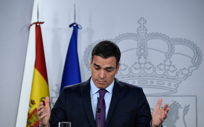 Hispaania peaminister Pedro Sanchez.