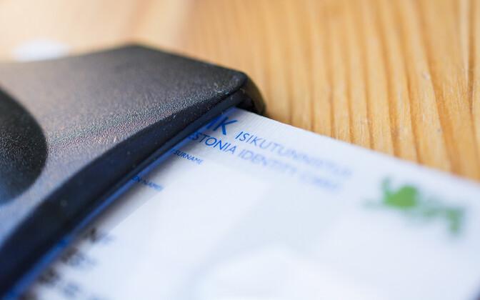 Estonian ID Card and card reader.