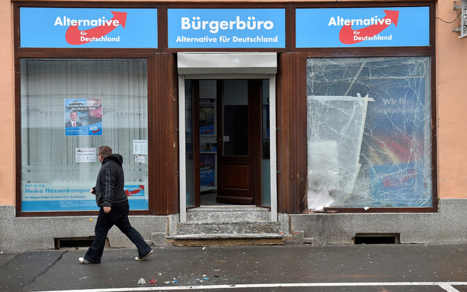 AfD kontor Döbelni linnas päev pärast plahvatust.