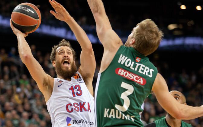 Kaunase Žalgiris pidi lõpusekunditel tunnistama Moskva CSKA paremust