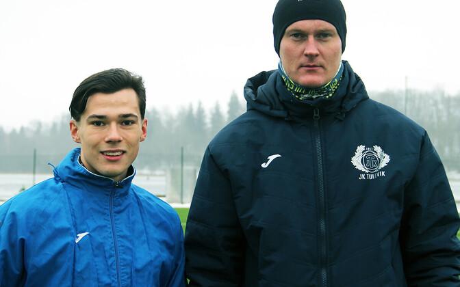 Mark Edur ja peatreener Sander Post