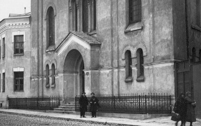 Так выглядела Большая Хоральная синагога в Таллинне.