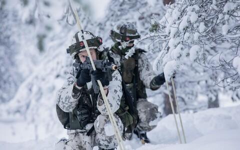 Военнослужащие Финляндии на учениях.