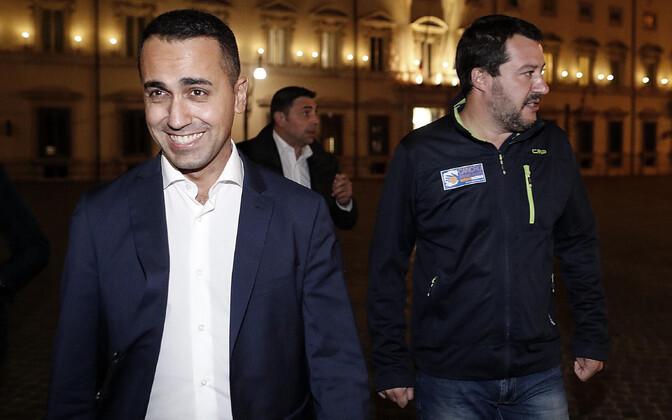 Itaalia asepeaministrid Luigi Di Maio ja Matteo Salvini.