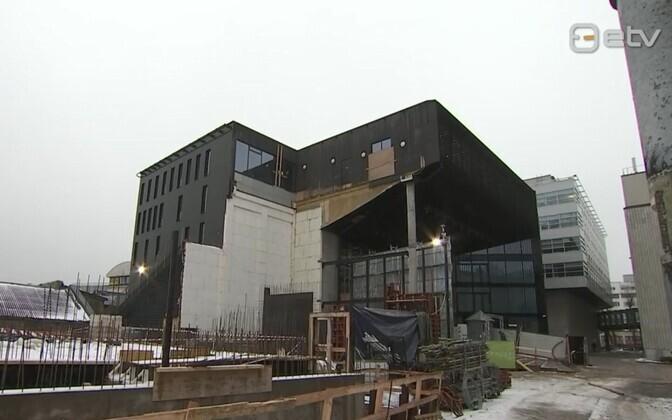 Ehitusplats Tallinna Ülikoolis.