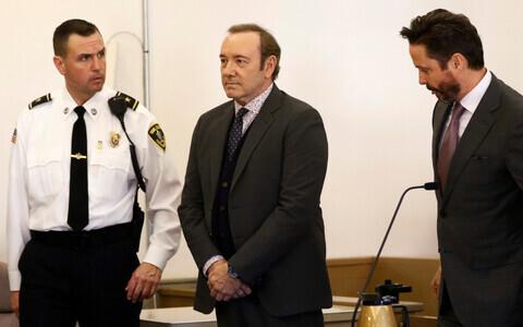 Kevin Spacey Nantucketi kohtusaalis 7. jaanuaril.