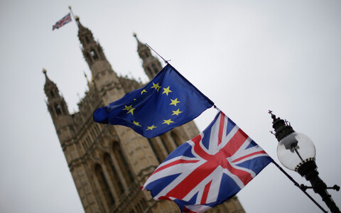 Флаги ЕС и Великобритании в Лондоне.