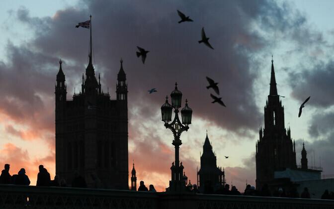 Briti parlamendihoone Londonis.