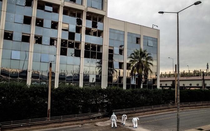 Pommiplahvatuse tagajärjed Ateenas.