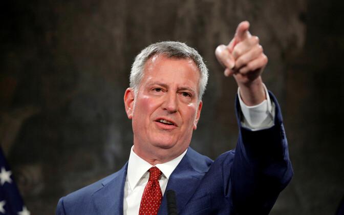 New Yorgi linnapea Bill de Blasio.
