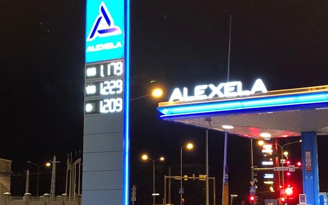 Kütuse hind tanklates.