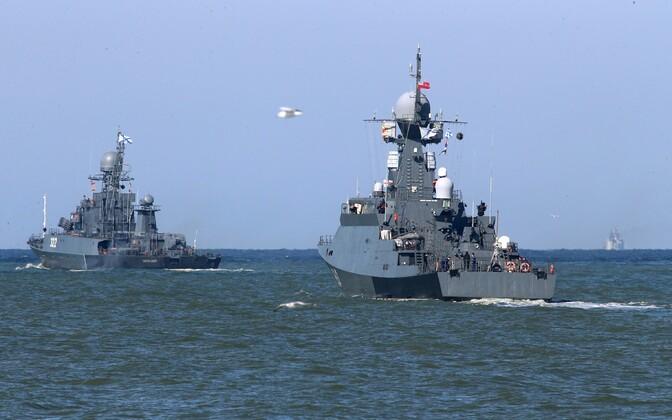 Vene Balti laevastiku laevad 2017. aastal õppusel Zapad.
