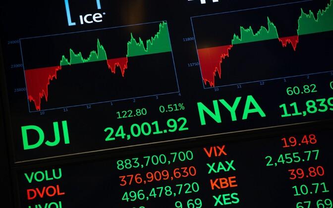 New Yorgi börsi aktsiahinnad rohelises.