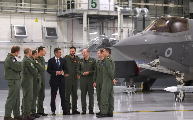 Briti kaitseminister Gavin Williamson Marhami õhuväebaasis.