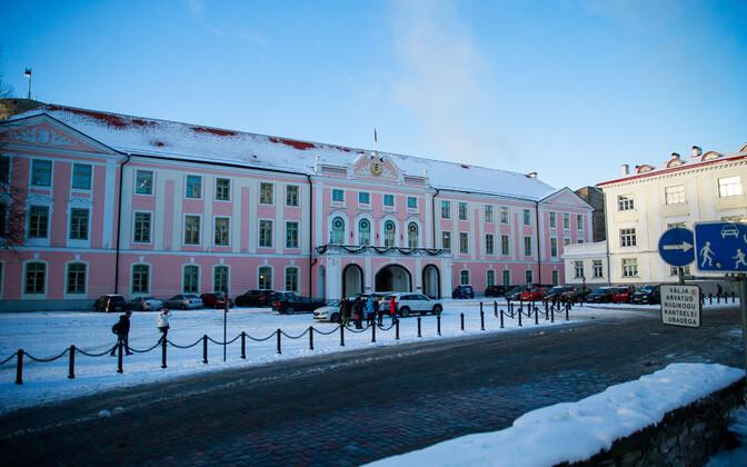 The Riigikogu building at Toompea Castle.