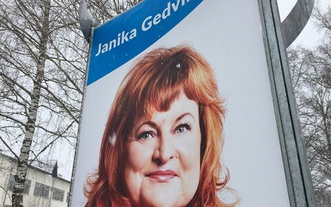Janika Gedvil in a 2019 election campaign poster.