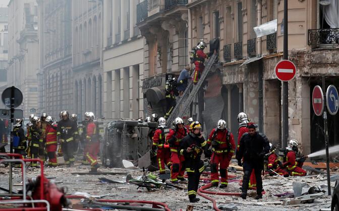 Plahvatus Pariisi kesklinnas.