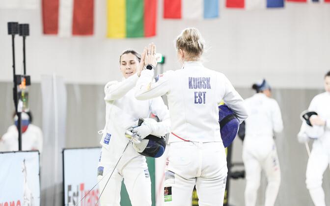 Эстонские шпажистки на турнире