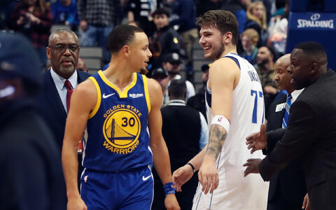 Stephen Curry ja Luka Doncic