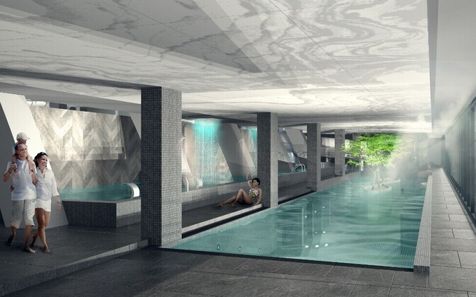Veekeskusesse lisandub uusi atraktsioone, lõõgastusbassein, saunasid ja mullivanne.