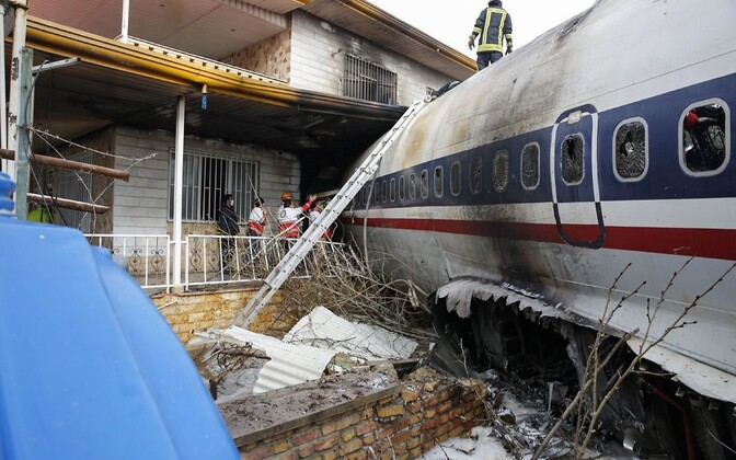 Разбившийся самолет.