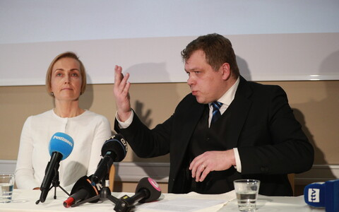 Lauri Hussar ja Kristina Kallas pressikonverentsil