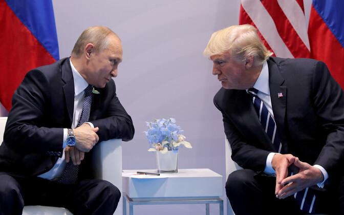 USA president Donald Trump ja Venemaa president Vladimir Putin möödunud aasta juulis Hamburgis