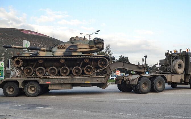Türgi relvajõud Süüria piiri lähistel.