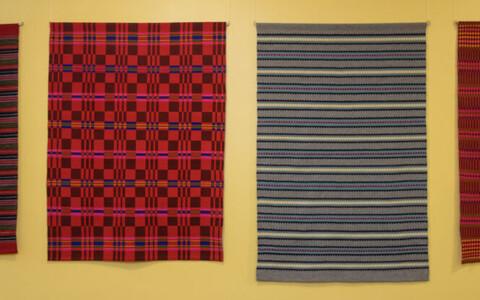 Выставка текстиля в Рийгикогу.